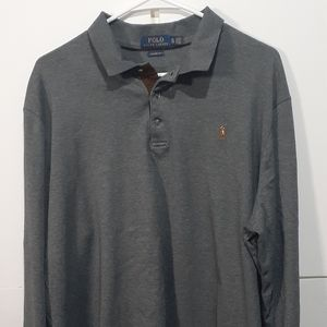 🐎XL Polo Ralph Lauren Longsleeved gray polo shirt